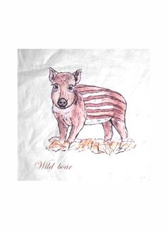 SCARF WILD BOAR - DEAU  http://shopvida.com/collections/dominique-janssens  #wild #boar #christmas #fashion #pillow #interior #forest #nature #home #decoration #luxury #scarf #tote #bag