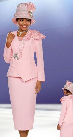 Ben Marc Suit 48135-Pink - Church Suits For Less