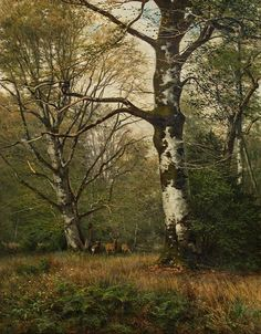 Things of beauty I like to see — Georg Engelhardt (1823-1883) - Forest with deer,...