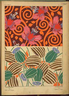 Two Floral Designs - E. A. Seguy, (Artist) 1927 Paris  Publisher: Ch. Massin & Cie