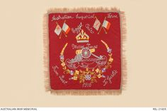 Embroidered 'Souvenir of Egypt' cloth : Christmas 1915