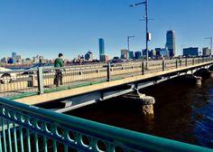 Bridge on Charles river in Boston.