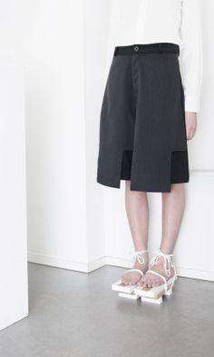 Tailored Culottes - modern pattern cutting; contemporary fashion details // Orphan Bird