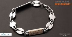 ALLURE SILVER STAINLESS STEEL MEN'S BRACELET Product Code :388975 #fashion…