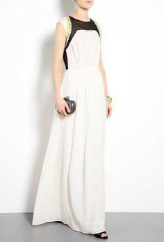 By Malene Birger Lanamili Silk Embellished Maxi Dress in White (cream) - Lyst