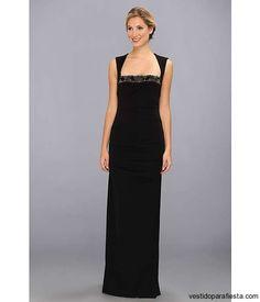 Sencillos vestidos largos color negro para fiesta de noche 2014 http://vestidoparafiesta.com/sencillos-vestidos-largos-color-negro-fiesta-noche-2014/