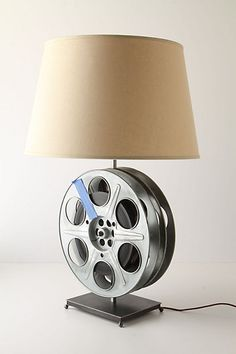 film reel lamp...vintage and something i love!!