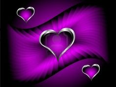 Image detail for -Purple Hearts Valentines Day Background With Silver Hearts.. Royalty ...