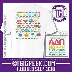 TGI Greek - Alpha Delta Pi - Holiday Mixer - Comfort Colors - Greek T-shirts #tgigreek #alphadeltapi
