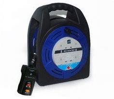 Masterplug Cable Reel Case Reel 20m RCD Amp 4 Socket HBT2013/4BLRCD-MP