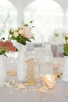 Numeros de mesa glitter