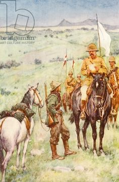 Kitchener and General Cronje's messenger, Paardenberg, February 1900 Military Art, Military History, South Afrika, British Colonial Style, Age Of Empires, Out Of Africa, Edwardian Era, Zulu, British Army