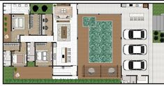 Casas The Sims Freeplay, Earth Homes, Home Projects, Beach House, House Plans, Sweet Home, Villa, Floor Plans, House Design