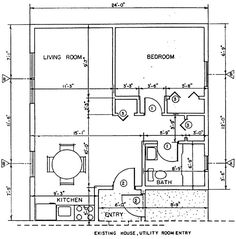 Under a 1000 sq ft house plans with loft modular little for Free home addition plans