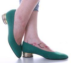 Scarpe #vintage ~ Vintage ballerina shoes - di supervintage