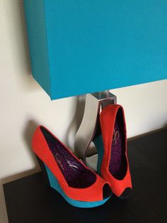 Jessica Simpson color block wedges - bPennywhys on Poshmark