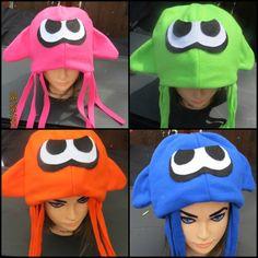 Squid Girl Boy Inspired Hat Blue, Orange, Pink, Teal, Purple, Green Squid Costume Cosplay