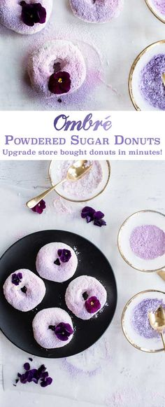 How to make DIY Ombre Donuts Recipe - upgrade store bought doughnuts for a wedding, baby shower or bridal shower with this easy hack!