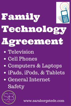 How we handle the internet and technology with our kids, including a PDF download of our family technology contract.