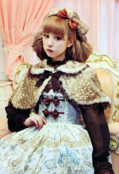 cute capelet and bonnet. I have probably pinned this before, but I can't get enough of faux fawn fur!