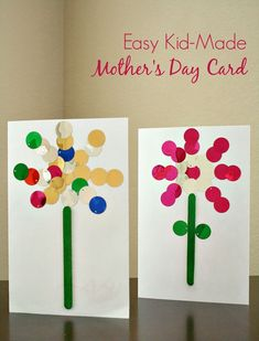 Easy Kid-Made Mother's Day Card. Easy and cute craft.