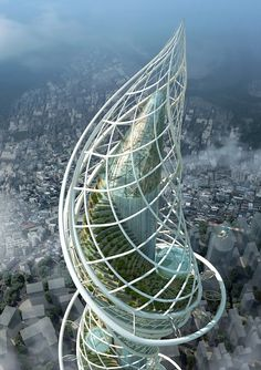 Proposal for World's Tallest Building at Wadala, India designed by James Law of James Law Cybertecture International