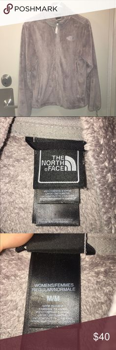 Medium Grey Northface Jacket cozy and comfortable! in great/good condition, favorite jacket for winter, but no longer fits :( the left arm jacket snap is broken, but hardly noticeable. color is light grey, pictures don't do it justice :) North Face Jackets & Coats Utility Jackets