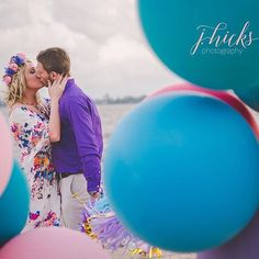 Today we took our one year anniversary pictures (a couple weeks early) with the amazing @jessannest! The wind was out of control and we didn't know if we'd get a picture with the balloons, but look how awesome this shot turned out!!! I'm so in love, I can't wait to see the rest! 😍 #JHicksPhotography #OneYearAnniversaryPictures #TheWindWasCrazy #LakeCharlesBeach #TheHollidays #PinkLilyBoutique #BeachMiniSession #EveryDayIsAHolliday #TheHappyHollidays #FlowerCrown #BalloonFun #OneYearLater