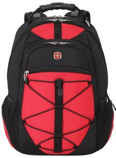 SwissGear Black with Red TSA Friendly ScanSmart Computer Backpack-Fits Most 15 Inch Laptops and Tablets Laptop Accessories, Accessories Store, Backpacking Hammock, Camping, Computer Backpack, Macbook Pro Case, Laptop Computers, Black Backpack, Laptops