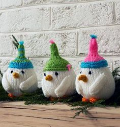 Snowbird Mantle Toppers | AllFreeKnitting.com