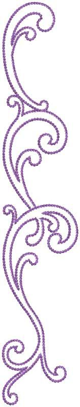 Design #12, Combo, Straight, chain stitch -  - machine embroidery design - put on pants or jeans