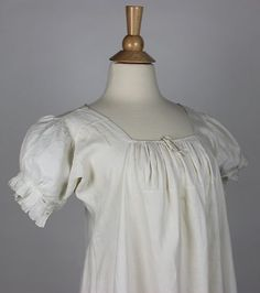 Wonderful Regency Women's Early Antique Linen Chemise 1810 1825 | eBay. I am going to make this to go with my 1813 gown which is a 'jumper' gown, i.e.no sleeves, instead a highly decorated chemise. This style is perfect for a display chemise.