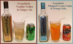 Cocktails using Ivanabitch Flavored Vodkas