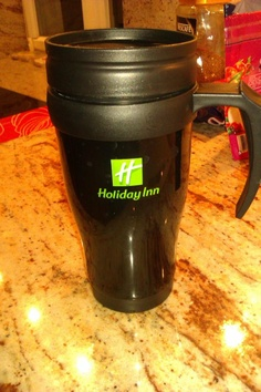 The best part of waking up is...Holiday Inn on your cup? Photo credit: Twitter user @LuKucera