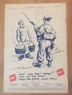 WW2 Home Guard OXO Advert Home Front 1940
