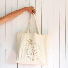 Bachelorette bag the bride tote bag bachelorette tote by HopStudio