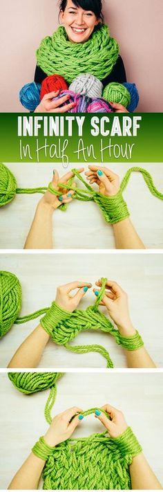 Como fazer um echarpe-infinito em 30 minutos