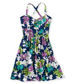 Floral Bustier Dress - Aeropostale