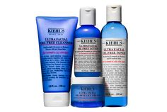 Kiehl's Oil Free Collection...  The Ultra Facial Oil Free Cleanser 5.0 fluid oz. will last longer than nuclear waste. Use a dime's size worth *if that*...skin feels yummy clean!!