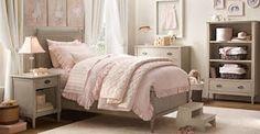 Cute pink and khaki girls room
