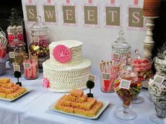 Image detail for -SWEET TREATS CAROUSEL: Shabby Chic Baby Shower Candy Table
