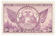 1935 3c Michigan Centenary - Catalog # 775 For Sale at Mystic Stamp Company
