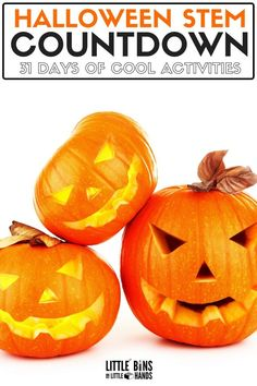 Countdown to Halloween with these awesome Halloween STEM Activities for kids! Take the Halloween STEM challenge today. Your kids will love these 31 STEM activities that are all Halloween themed! A great way to get kids interested in STEM and while they enjoy the excitement of Halloween! Fall Preschool Activities, Halloween Activities For Kids, Holiday Activities, Stem Activities, Kindergarten Science, Halloween Games, Science Classroom, Halloween 2018, Toddler Activities