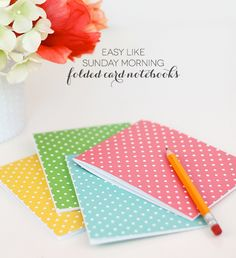 Easy Like Sunday Morning: Folded Notecard Notebooks Basta poco