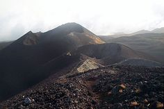 Mount Cameroon craters left after the eruptions in 2000