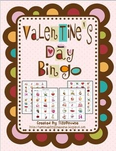Valentine's Day Bingo Game $