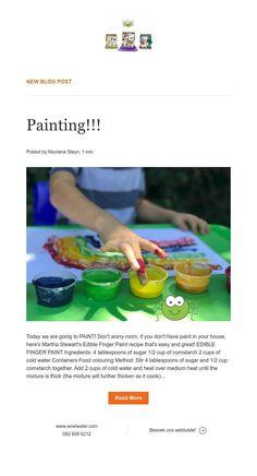 New Blog Post Edible Finger Paints, Finger Painting, News Blog, Finger Drawings