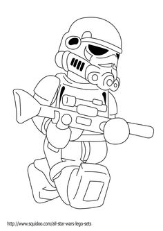 Lego Star Wars Coloring Pages Printable Free For Kids Picture