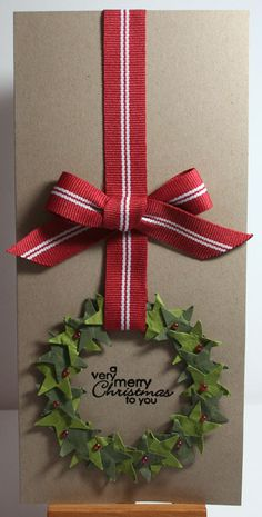 Wreath card. Ros Davidson, Independent Stampin' Up! demonstrator, Melbourne, Australia: Top 9 cards from 2009