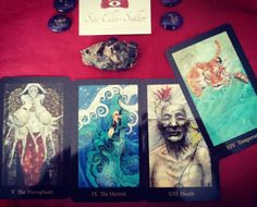 """Big lessons in my personal reading today (all Major Arcana cards). Feeling bored and like everything is the same old same old especially regarding metaphysical """"stuff."""" I almost get the feeling that this reading is telling me there is a huge transformation of thought on the way and that I have to 1) go inside myself and discover my own wisdom and how it applies to me and 2) to be patient as what I am meant to know will reveal itself in due time.  #maryeltarot #majorarcana #transform…"""